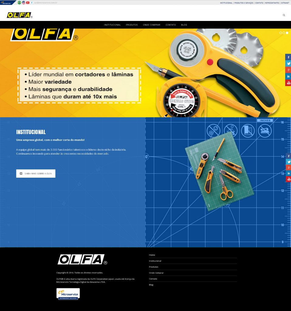Olfa – Site Institucional