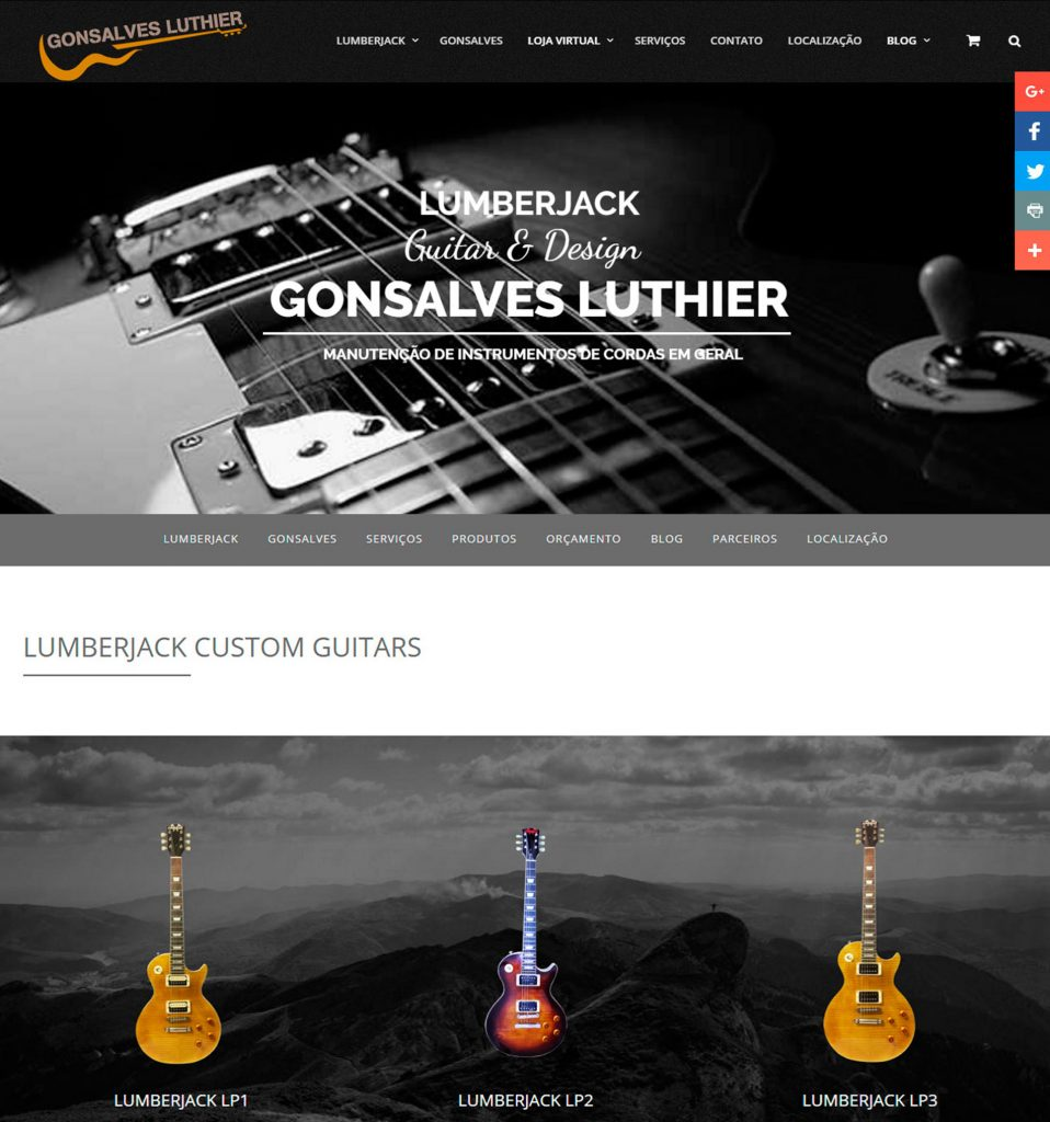 Gonsalves Luthier – Loja Virtual One Page
